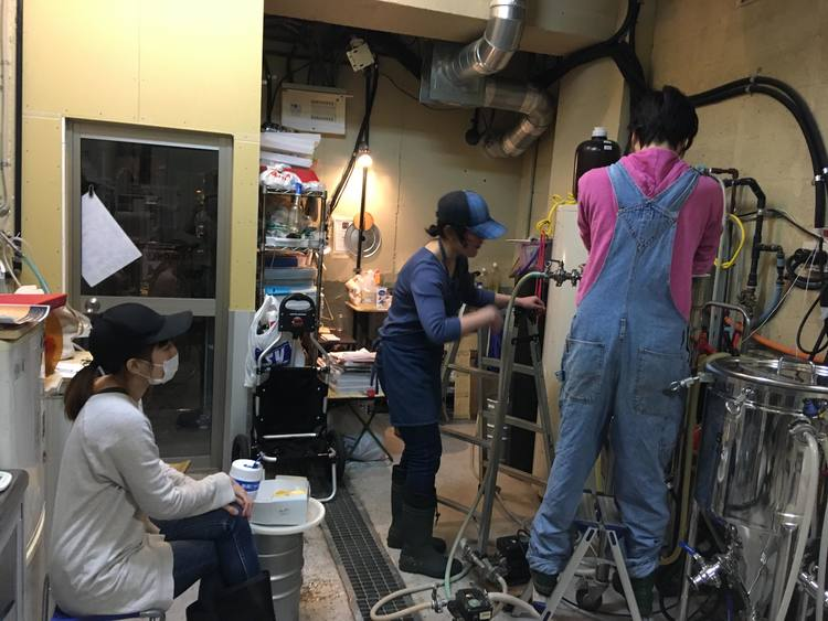 TokyoWomanBrewers 醸造 仕込み ビアック